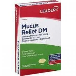 LEADER Mucus Relief DM Extended-Release Tablets (Compare to Mucinex)