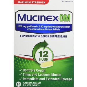 Mucinex DM Expectorant & Cough Suppressant Max Strength Tablets