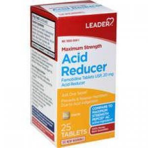 LEADER Acid Reducer 20mg Max Strength Tablets (Compare to Pepcid)