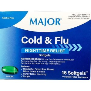 Major Cold & Flu Nighttime Relief (Compare to Nyquil)