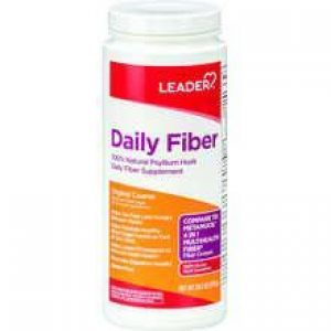 LEADER Daily Fiber Supplement Powder (Compare to Metamucil)