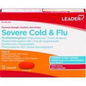 LEADER Severe Cold & Flu Daytime Caplets (Compare to Tylenol)