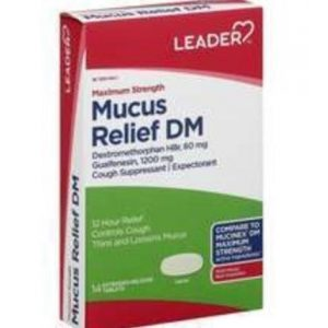 LEADER Mucus Relief DM Maximum Strength Extended-Release Tablets (Compare to Mucinex)