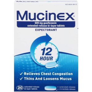 Mucinex 12 Hour Expectorant Tablets